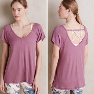 Anthropologie Saturday Sunday Waffle Swing Tee L